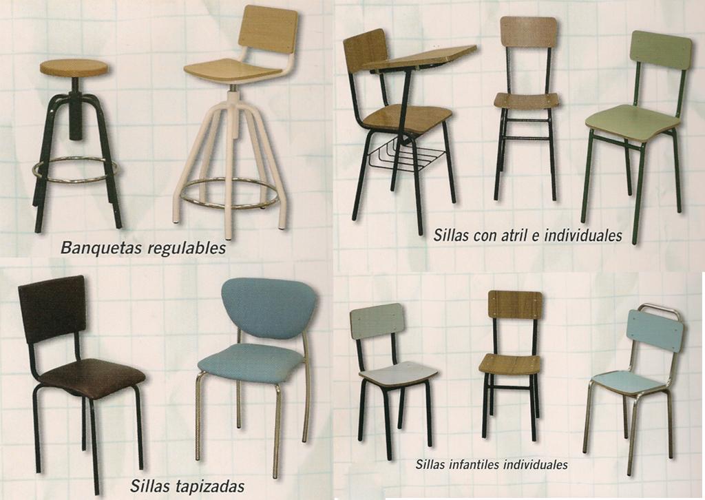 Mobiliario escolar talleres armis n taller de for Sillas de estudio zaragoza